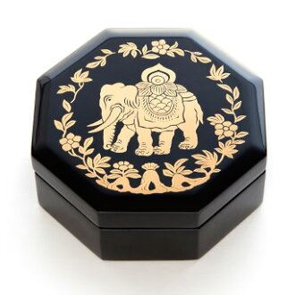 Elephant pattern octagonal casket decorated with elephant of shoso-in treasures