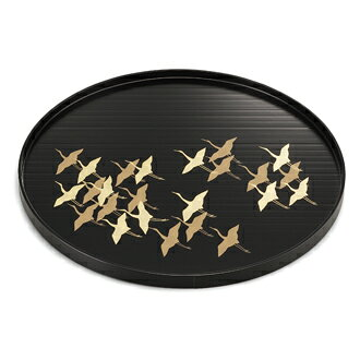 Cranes round tray [round basins and various celebrations / thank you / in celebration and unfortunate incident presentation trap overseas gifts / fun gift / packaging selection and then address book]