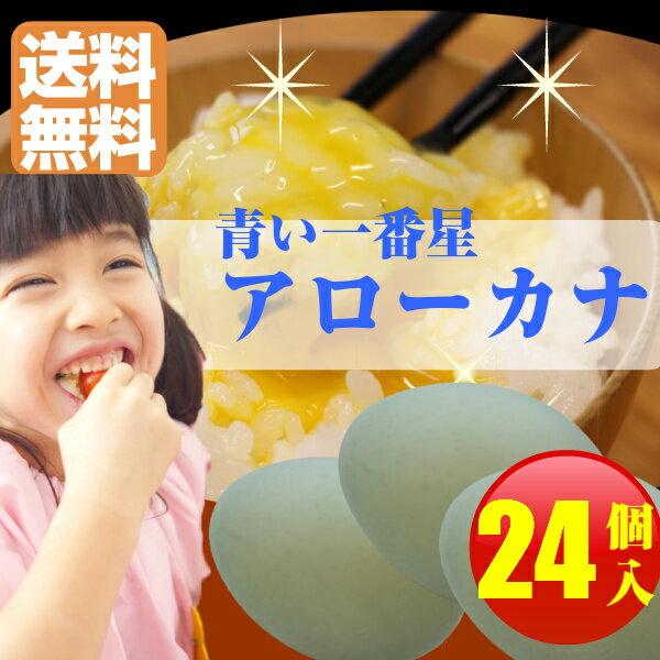 【アローカナ】青いたまご 幸せを呼ぶ【玉子】6個入り×4パック 送料無料 幸せを呼ぶ 青い玉子 卵 ビタミン 楽天 お買い物マラソン 楽天最安値