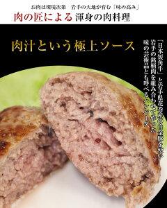 短角牛 白金豚 生ハンバーグ 岩手県産 粗挽き肉使用 お取り寄せ 通販 お土産 お祝い
