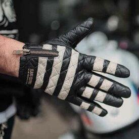 【送料無料】プレゼントにも♪本革 レザー 囚人グローブ プリズナー 手袋 しましま ボーダー メンズ おしゃれ 人気 革 ツーリング バイク バイカー カスタムワークスゾン CUSTOM WORKS ZON