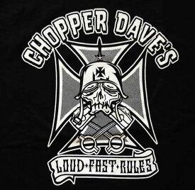 【送料無料】CHOPPER DAVE'S チョッパーデイブ Tシャツ バイカー 黒 ブラック S M L XL 大きい サイズ XXL