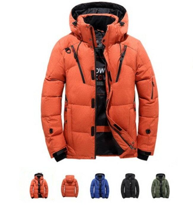 【送料無料】ダウンジャケット メンズ 軽量 ダウンジャケット 冬物 冬服 メンズ アウター ダウン 大きいサイズ 3L 4L 黒 フード付き ハイネック 防寒