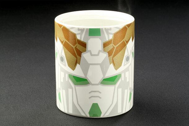 機動戦士ガンダムユニコーン ユニコーンガンダム 感温 マグカップ(フェイスマグ) ガンダムカフェ限定