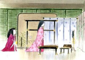 ジブリ美術館限定 ポストカード かぐや姫の物語 「かぐや姫と女童」