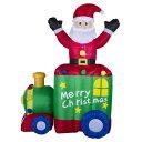 【ムービングエアーディスプレイ トレインサンタ】 クリスマス サンタクロース 汽車 エアーブロー エアーバルー…