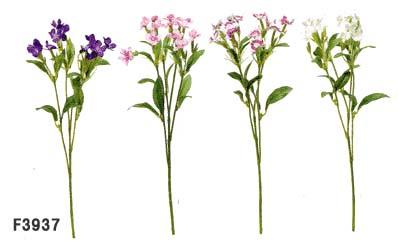 ≪なでしこ 造花≫【ナデシコ12輪付】1本売*F3937-4色(全長約32cm*花径約3cm)≪なでしこ 造花 ダイアンサス 春〜秋季節花≫
