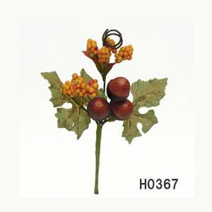全長約16cm【ミニドングリピック】1本売*H0367*どんぐり約2cm*秋用のアレンジのアイテムに
