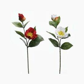【造花 椿】椿の小枝(2輪付ピック) 全長約40cm 2906F