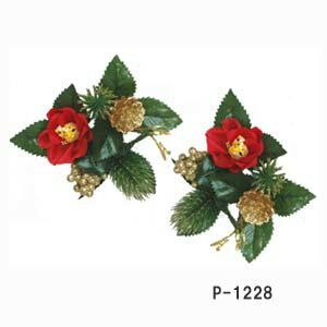 250円1個【椿リング1花輪付】P-1228(直径10cm*花径4cm) 壁掛けにも、置物に最高