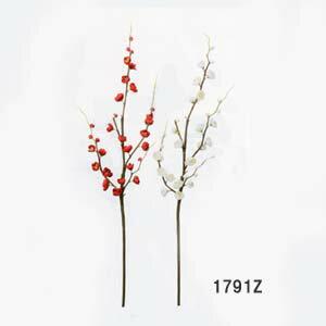 【造花 梅】全長約89cm中枝梅 1791Z (全長約89cm*花径約2.5〜3.5cm)
