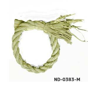 稲穂付【18cmしめ縄リース】ND-0383-Mイメージの飾り付きの写真は「22cmを使用」