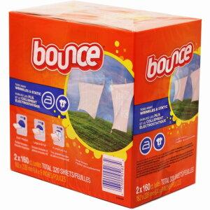 バウンス ドライヤーシート 乾燥機用柔軟剤 160枚の2個セット 計320枚 Bounce Fabric Softener Dryer Sheets バウンスシート カナダ製