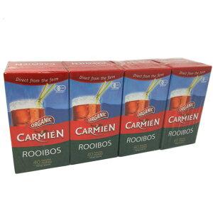 カーミエン CARMIEN オーガニック ルイボスティー ティーバッグ 40袋入×4箱 160パック