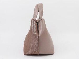 【日本製】【本革】ピンクパイソンカジュアルバッグ・ハンドバッグミニバッグ