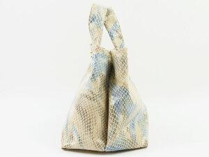 【新作日本製本革】ブルー×ベージュカジュアルバッグ・ハンドバッグミニバッグ