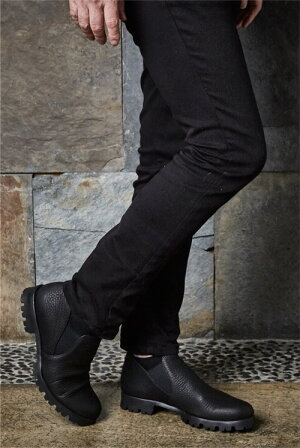 【2017新作】【日本製】【イタリアンレザー】オイルレザーサイドゴアブーティメンズカジュアルグレイグレーブラウンダークブラウンブラック本革靴【送料無料】