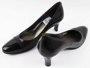 【日本製】エナメルコンビパンプス切り替えし付きPUMPSエナメル・カーフ・スエード・ブラックBLACK黒ヒール6.5cm【卒業式卒園式入学式靴リクルート送料無料大きいサイズ小さいサイズ】/取扱サイズ:21.5cm22cm〜25cm25.5cm/【10P01Nov14】
