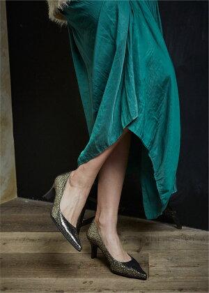 【2017新色】【日本製】【本革】【美脚】メタリックポンテッドトゥパンプスダークゴールドガンメタ型押しゴールドPUMPS黒グレイパーティ結婚式6.5cm【送料無料】【大きいサイズ小さいサイズ】/取扱サイズ:21.5cm22cm〜25cm25.5cm/