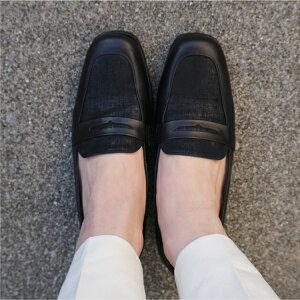 【2020年新色】【日本製】【本革】コンビローファー黒ブラックBLACKダークブラウンプリント革3.5cmヒール【送料無料】