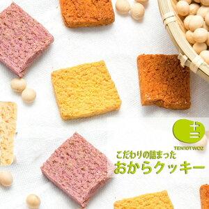 【送料無料】TENTWO-COOKIE8種おからクッキー透明パウチ9個セット 動物性材料不使用、保存料着色料はつかいません。ダイエットにもぴったり、新鮮なおから100年の老舗お豆腐屋さんの店主が考