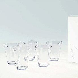割れないガラス! Plakira ゆらぎタンブラー クリア Sサイズ 5個セット 樹脂製グラス ガラスのような透明感。お子様にも安心な割れない素材。パーティやアウトドアといったどんなシーンでも使えます。 食卓 洗面 キャンプ トライタン 子供用 食洗器可 耐熱 航空食器