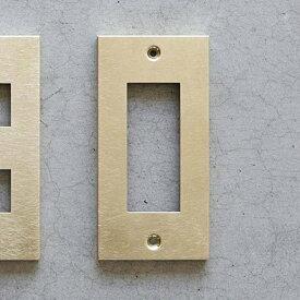 【メール便対応】スイッチプレート コンセントプレート 真鍮3口  DIY SML コンセントカバー スイッチカバー 新生活