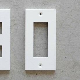 【メール便対応】スイッチプレート コンセントプレート ホワイト3口 アイアン DIY SML コンセントカバー スイッチカバー