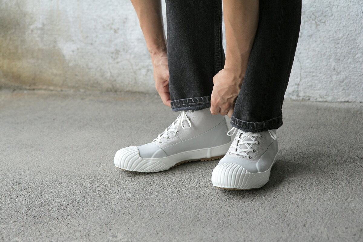 【MOONSTAR ALWEATHER】限定カラー グレーホワイト 27.0cm スニーカー 靴【ムーンスター オールウェザー】 VD 全天候型 ハイカット