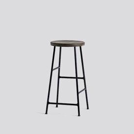 正規品 北欧家具 HAY ヘイ chair 椅子 CORNET BAR STOOL LOW SOFT BLACK POWDER COATED STEEL - SMOKED コルネットバースツール