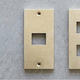 【メール便対応】スイッチプレート コンセントプレート 真鍮1口  DIY SML コンセントカバー スイッチカバー
