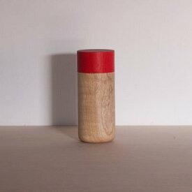 畑漆器 SOJI tutu L アカ 山中漆器 筒 茶筒 キャニスター 小物入れ キッチン ギフト プレゼント 器
