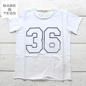 【ベビー&キッズ 60%OFF】≪BABE&TESS≫ ベイブ・アンド・テスナンバープリント 半袖 Tシャツ カットソー トップス ホワイト【2歳/3歳/4歳/5歳/6歳/7歳】【ベビー/キッズ/男の子】