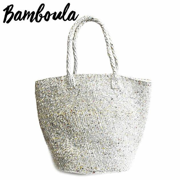 ≪Bamboula≫ バンブーラメタリック 麻 かご バッグ カゴ トート Solid Metallic (Silver)【レディース】