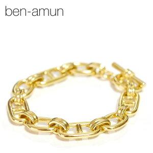 【再入荷】【CLASSY 雑誌掲載】≪BEN-AMUN≫ ベンアムンシェーヌダンクル ゴールド チェーン ブレスレット マンテル 24金仕上げ LINK ANCHOR Chain Bracelet (Gold)【レディース】