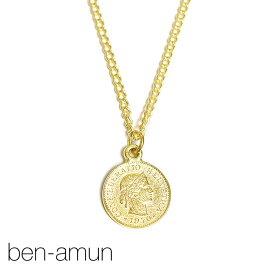 【予約販売 2月入荷】≪BEN-AMUN≫ ベンアムン女性 横顔 スイス 硬貨 5フラン コインネックレス ゴールド チェーン ネックレス 24金仕上げ CONF DERATIO HELVETICA Coin Necklace (Gold)【レディース】