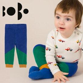 【1歳/1歳6ヶ月/2歳】≪BOBO CHOSES≫ ボボ・ショーズ配色 ニット レギンス パンツ グリーン×ブルー×イエロー ボトムス GEOMETRIC KNITTED TROUSERSベビー/女の子/男の子