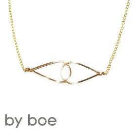 【再入荷】≪by boe≫ バイ・ボーティアドロップ ゴールドネックレス Interlockink Drop Necklace (Gold)【レディース】【楽ギフ_包装】