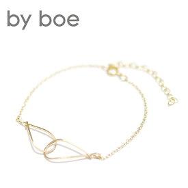 【再入荷】≪by boe≫ バイ・ボーティアドロップ ゴールドブレスレット Interlockink Drop Bracelet (Gold)【レディース】【楽ギフ_包装】