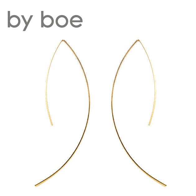 【再入荷】≪by boe≫ バイ・ボースレッダーカーブ ピアス Wire Arc Earrings (Gold)【レディース】