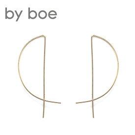 【再入荷】≪by boe≫ バイボーミニ ハーフムーン ピアス Mini Half Moon Threader Earrings (Gold)【レディース】 ワンマイルコーデ