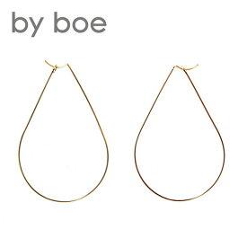 ≪by boe≫ バイ・ボーワイヤー ティアドロップ フープ ピアス Wire Teardrop Hoop Earrings (Gold)【レディース】