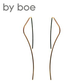 ≪by boe≫ バイボーロングワイヤー カーブ ピアス Wire Curve Earrings (Gold)【レディース】