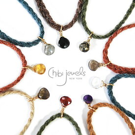 【GLOW 雑誌掲載】【再入荷】【今だけ10%OFF】≪chibi jewels≫ チビジュエルズボヘミアン 天然石 ミサンガ デザートトーンコードブレスレット Desert Tone Cord Bracelet with Gemstone【レディース】【楽ギフ_包装】