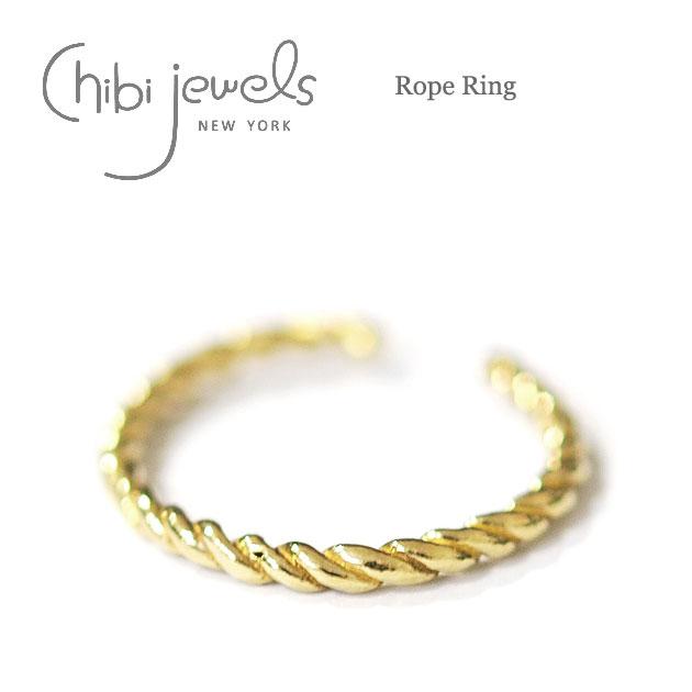 【再入荷】≪chibi jewels≫ チビジュエルズボヘミアン ロープ リング 指輪 Rope Ring (Gold)【レディース】【楽ギフ_包装】