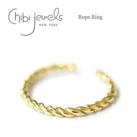 【再入荷】≪chibi jewels≫ チビジュエルズボヘミアン ロープ 2WAY リング イヤーカフ 指輪 Rope Ring (Gold)【レディース】 ワンマイルコーデ