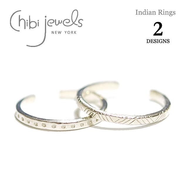 【再入荷】≪chibi jewels≫ チビジュエルズボヘミアン 全2デザイン インディアン トライアングル&ドット シルバー C型リング Indian Rings (Silver)【レディース】【楽ギフ_包装】
