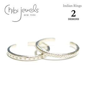 【再入荷】【リング&ブレス 今だけ10%OFF】≪chibi jewels≫ チビジュエルズボヘミアン 全2デザイン インディアン トライアングル&ドット シルバー C型 2WAY リング イヤーカフ Indian Rings (Silver)【レディース】 ワンマイルコーデ