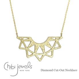 ★【在庫1点セール 70%OFF】≪chibi jewels≫ チビジュエルズダイヤモンド カット ネックレス ゴールド Diamond Cut-Out Necklace (Gold)【レディース】 ワンマイルコーデ