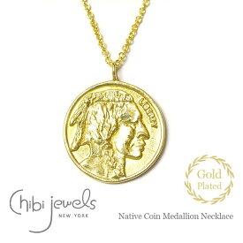 【再入荷】≪chibi jewels≫ チビジュエルズボヘミアン ネイティブ コインネックレス メダリオン サークル ネックレス コイン ゴールド 14金仕上げ Native Coin Medallion Necklace (Gold)【レディース】 ワンマイルコーデ
